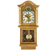 Bedford Clock Classic 26 Oak Finish Chiming Wall Clock - H291116