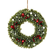 20 Boxwood, Berry, and Ornament Wreath by Valerie - H211517