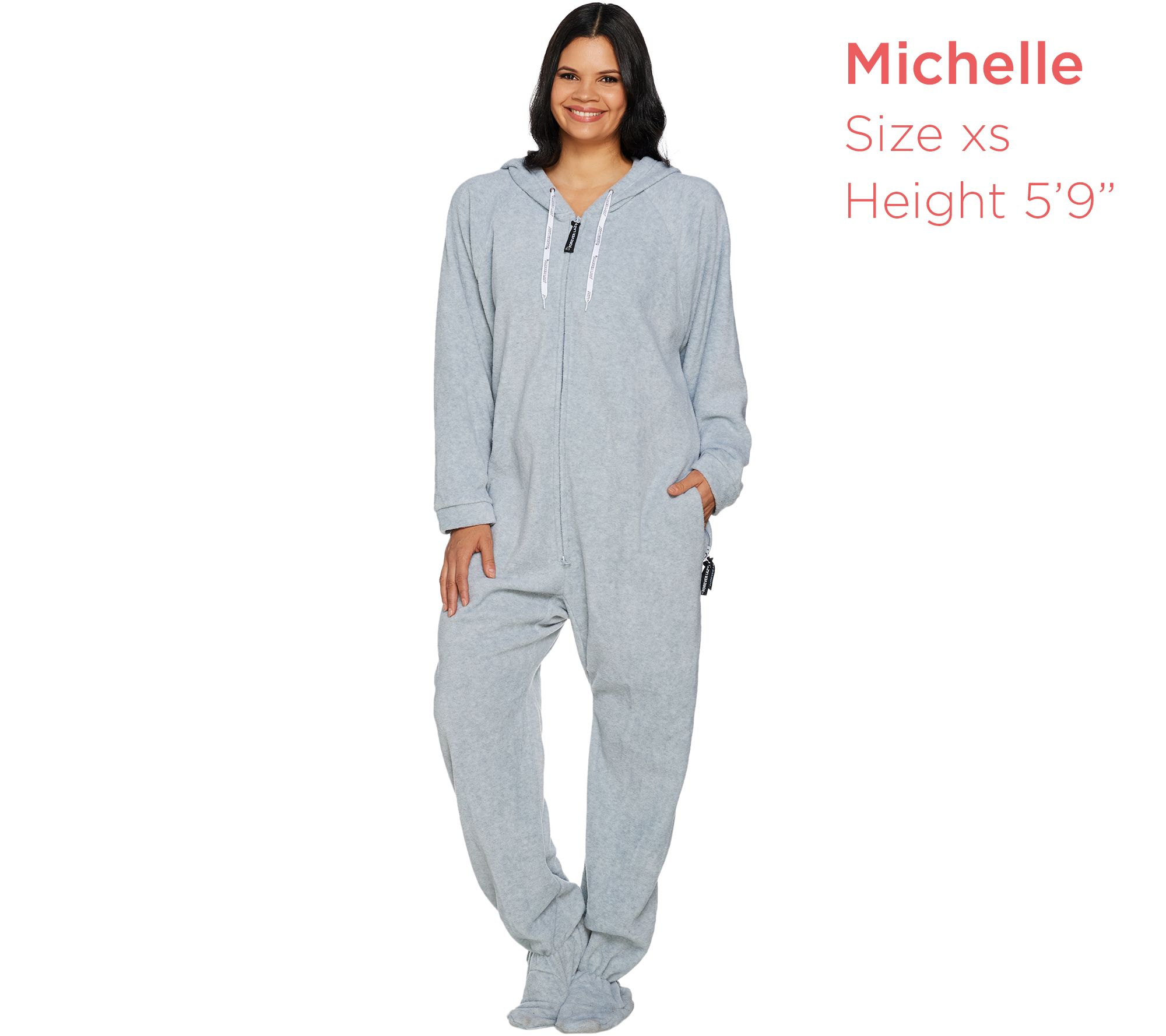 04f8ec580ab1 Forever Lazy Fleece Footed Adult Onesie with Pockets - Page 1 — QVC.com