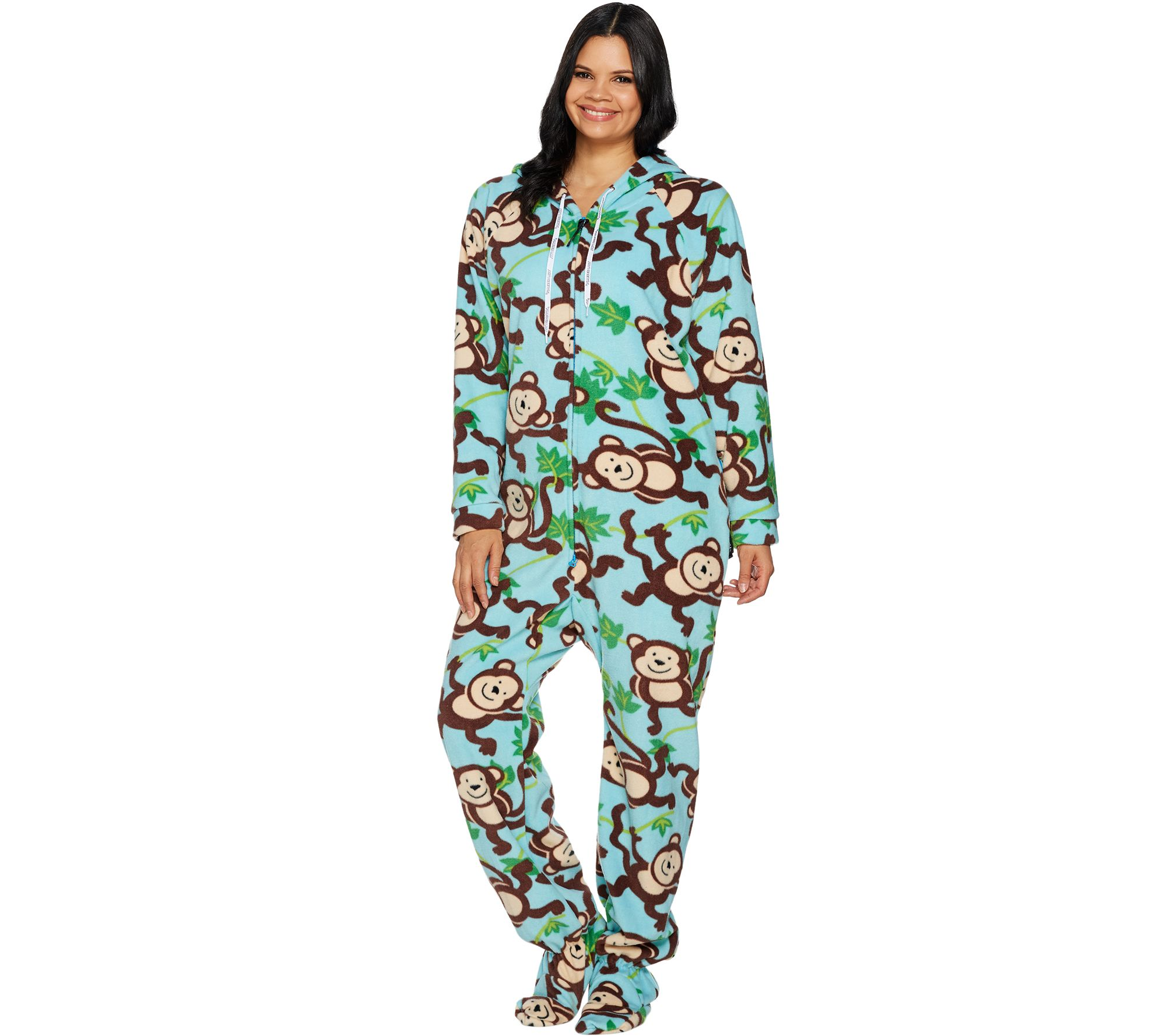 b765acbd0dc6 Forever Lazy Fleece Footed Adult Onesie with Pockets - Page 1 — QVC.com