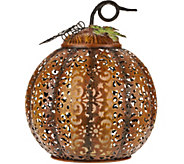 11 Lit Punched Metal Pumpkin by Home Reflections - H212817