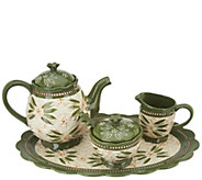 Temp-tations Old World Basketweave Tea Set - H215917