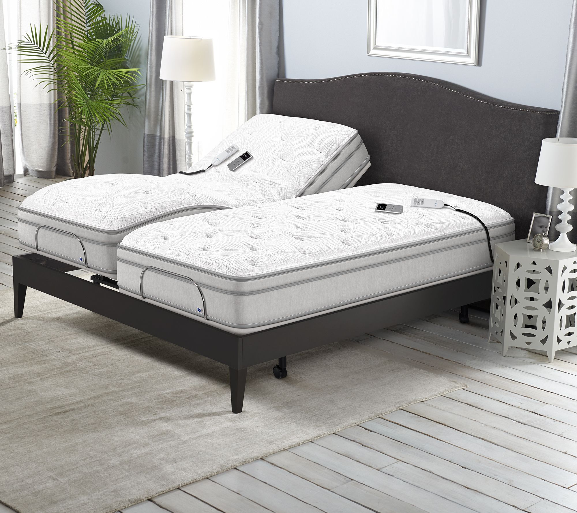 Sleep Number P5 Split King Adjustable Base Mattress Set Page 1
