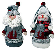 13 Set of 2 Arctic Santa and Snowman by Santas Workshop - H286417