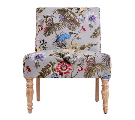 Delicieux Angelo:HOME Bradstreet Antique Style Floral Bird Chair U2014 QVC.com