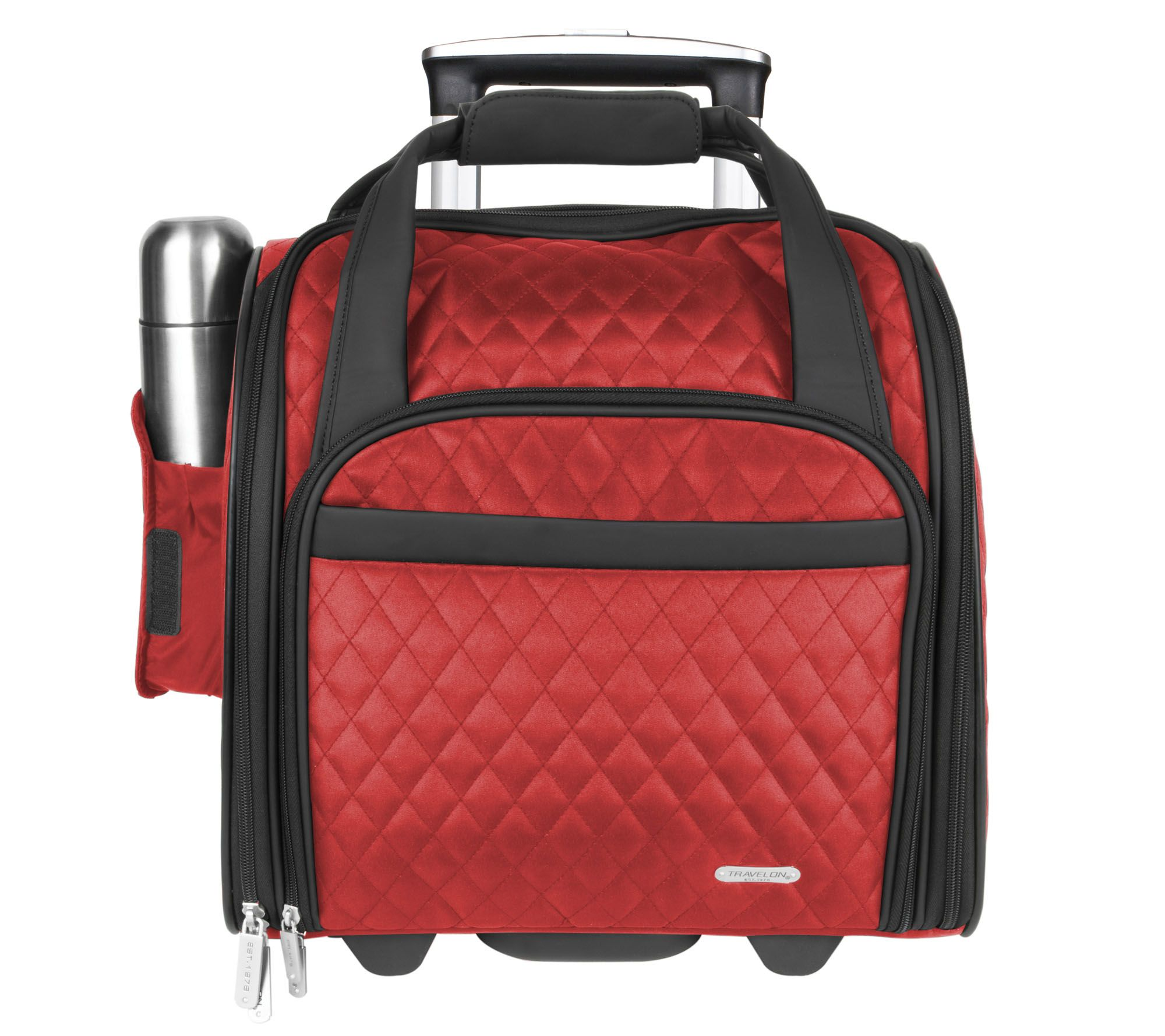 bc3adac47ee5 Travelon Wheeled Underseat Carry-On Bag with Back-Up Bag — QVC.com