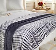 Berkshire Blanket Full Velvet Soft Plaid Blanket - H211318
