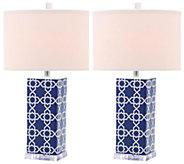 Set of 2 Quatrefoil Table Lamps by Valerie - H284918