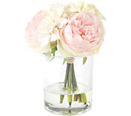 Hydrangea & Rose Floral Arrangement by PureGarden - H291718