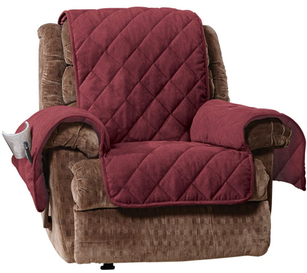 Sure Fit Recliner Furniture Cover With 1 Quot Memory Foam Seat