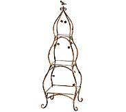 3-Tier Bronze Etagere with Birds and Flowers by Valerie - H204919