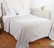 Cable Knit Jacquard Bedspread with Two Shams - H211519