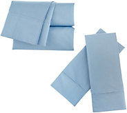 Home Reflections 2000TC Cooling 6 pc Easy Care CK Sheet Set - H215119