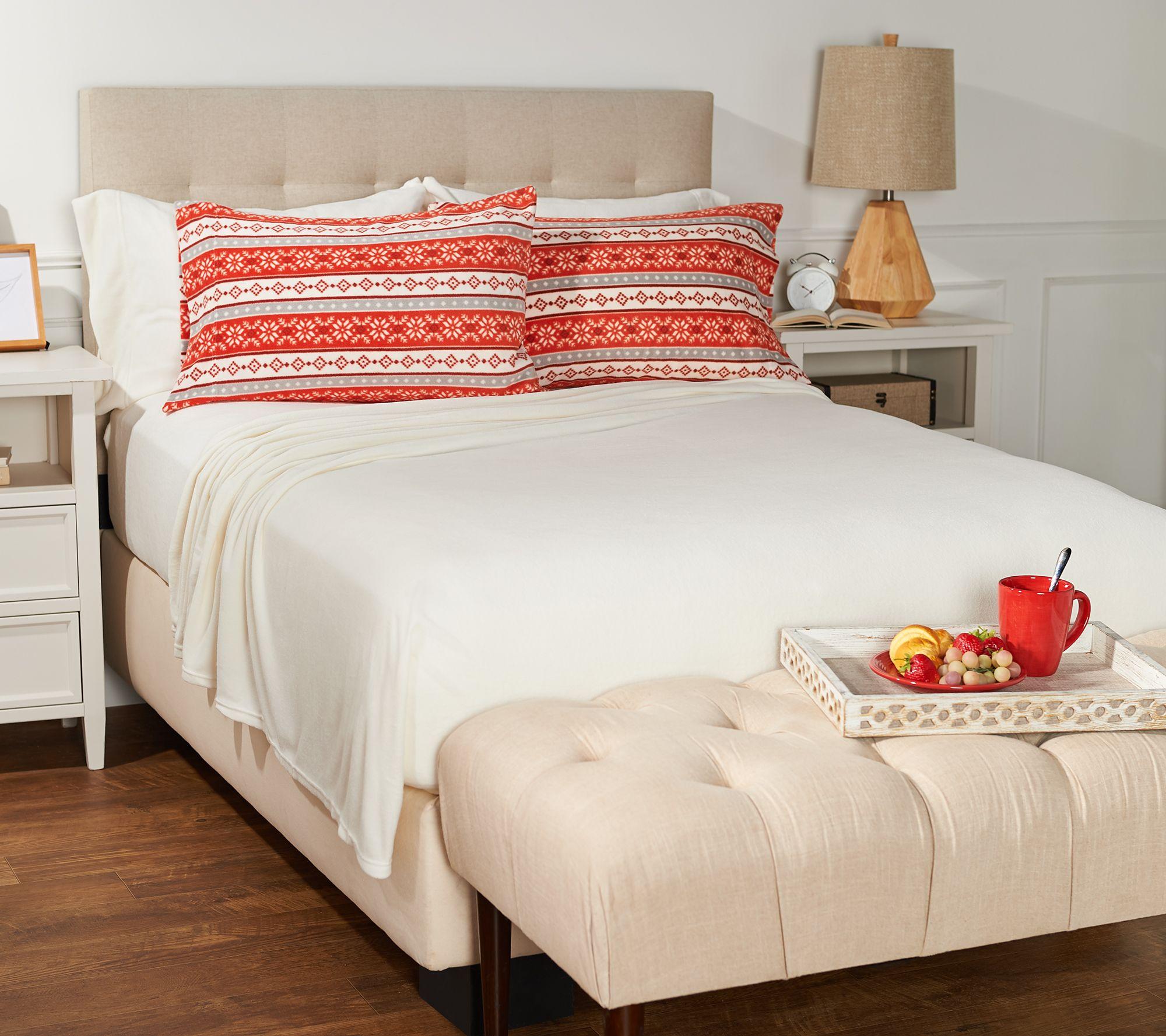 4 Pieces Velvet Fleece Flat Sheet Set Pillow Duvet Cover Queen King CK Size UK