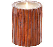 Luminara 5 Cinnamon Sticks Embedded Wax Flameless Candle - H294119