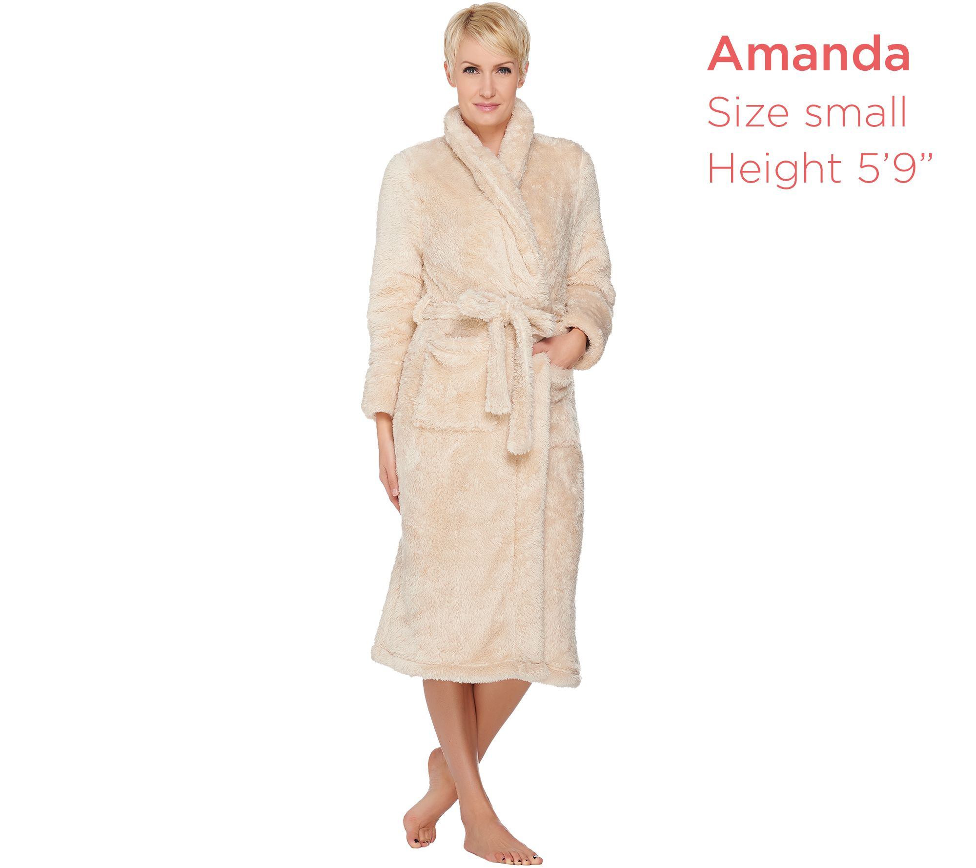 Fluffie Full Length Belted Wrap Robe By Berkshire Blanket - Page 1 — QVC.com 23566fc7b