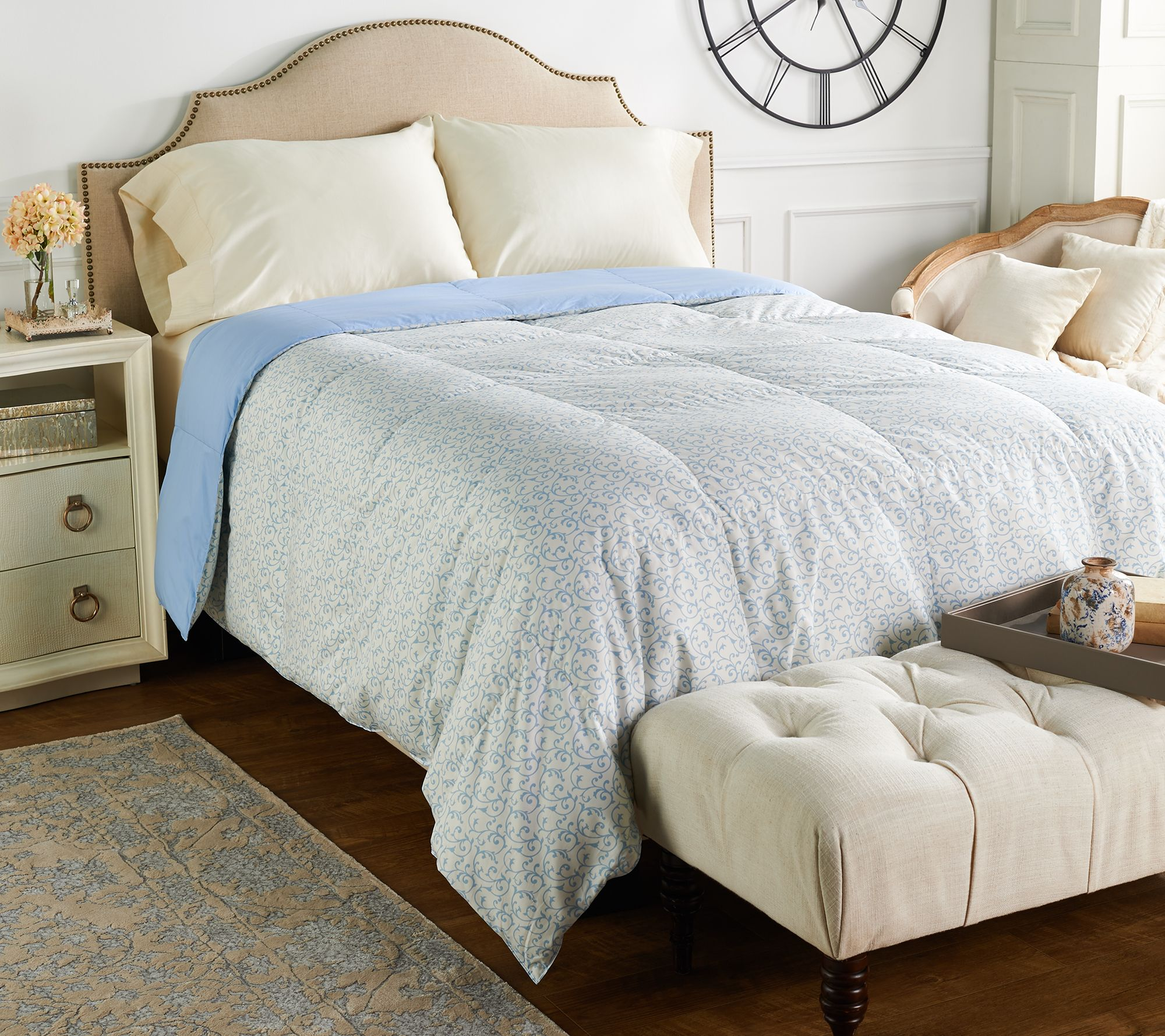 Northern Nights Versailles 500TC 550FP Reversible Twin Down Comforter —  QVC.com ec5b90275