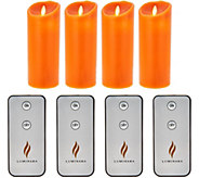 Luminara Set of 4 9 Flameless Candles with Remotes - H212720