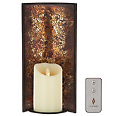 Luminara 12 Mosaic Wall Sconce with 4 Pillar & Remote - H214020
