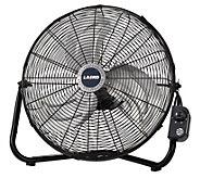 Lasko 20 High Velocity Floor Fan with QuickMount - Black - H302320