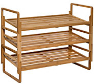 Honey-Can-Do 3-Tier Nested Bamboo Shoe Rack - H310020