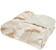 Dennis Basso 68 x 60 Oversized Sculpted Faux Fur Throw - H212921