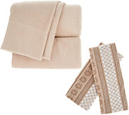 Malden Mills Polarfleece CK Sheet Set w/ Extra Fairisle Pillow Cases - H213121