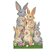Jim Shore Heartwood Creek Easter Bunny Family Figurine - H214521