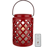 Luminara Indoor/Outdoor Ceramic Lantern w/Flameless Candle - H214921