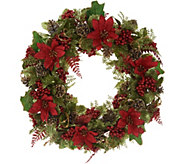 20 Glittered Poinsettia Wreath by Valerie - H216321