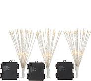 Kringle Express Set of (3) 9 Posable Starburst Picks - H216521