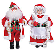 15 Set of 2 Mr. and Mrs. Claus by Santas Workshop - H286421