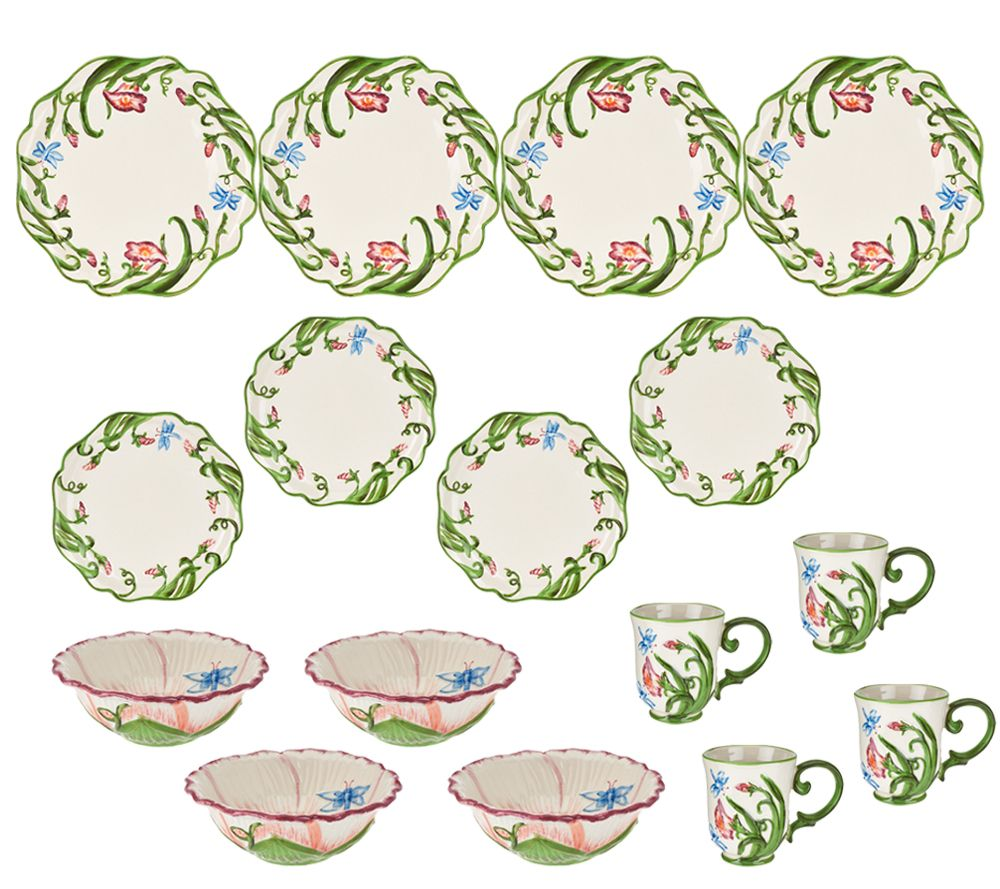 Temp-tations 16-piece Dragonfly Dinnerware Service for 4 - Page 1 u2014 QVC.com  sc 1 st  QVC.com & Temp-tations 16-piece Dragonfly Dinnerware Service for 4 - Page 1 ...