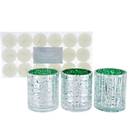 HomeWorx by Harry Slatkin S/3 Mercury Style Votives with Tealights - H211422