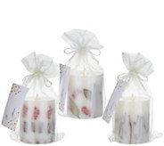 Bethlehem Lights S/3 Embedded Holiday Scented Touch Candles - H213522