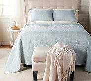 Casa Zeta-Jones Matelasse Queen Jacquard Bedspread with Shams - H215522
