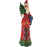 As Is Jim Shore Heartwood Creek Tall Crafted Santa Figurine - H217022