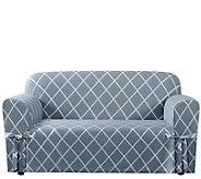 Sure Fit Lattice Love Seat Slipcover - H288822