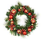 30 Mixed Wreath with Shatterproof Ornaments byVickerman - H301522