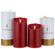 Luminara 5 & 7 Pillars with Gift Tubes and Remote - H214023