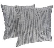 Inspire Me! Home Decor Velvet Luster 18 x 18 S/2 Pillows - H215723