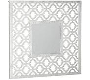 Inspire Me! Home Decor 30x30 Beveled Silver Leaf Mirror - H216823