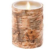 Luminara 5 Birch Bark Wax Flameless Candle - H294123