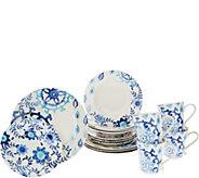Cooks Essentials Del Rey 16pc Ceramic Dinnerware Set - H211424