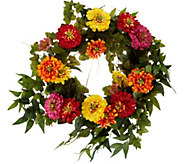 24 Zinnia Blossom Wreath by Valerie - H213524