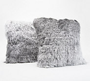 Inspire Me! Home Decor Ombre Shag 17 x 17 S/2 Pillows - H215724