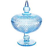Casa Zeta-Jones 8.5 Glass Cut Apothecary Jar with Microlights - H216024