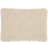 Mina Victory Large Chevron Ivory 14 x 20 Throw Pillow - H300724