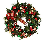 32 Oversized Ornament, Ribbon and Pine Wreath by Valerie - H211825