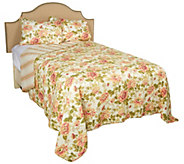 Classic Floral 100Cotton Quilt with Shams and Storage Bin - H212625